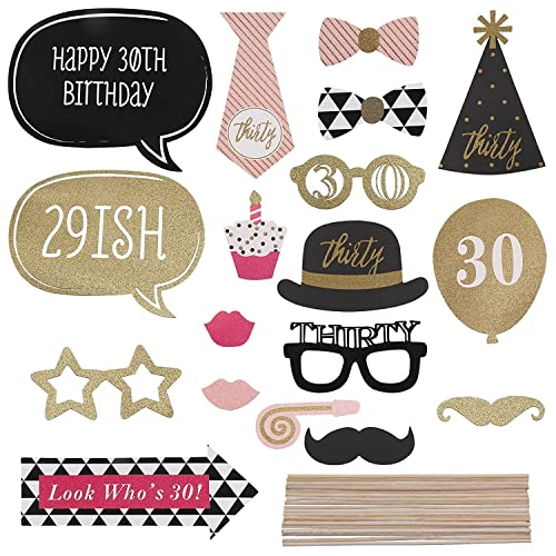 Veewon 18th Birthday Photo Booth Props Unisex Funny 36pcs Diy Kit