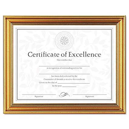 Dax N1818n1t Antique Colored Document Frame W Certificate Plastic 8 1 2 X 11 Gold