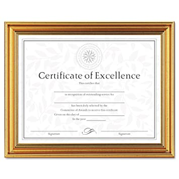 dax antique colored document frame with certificate metal 8 12 x