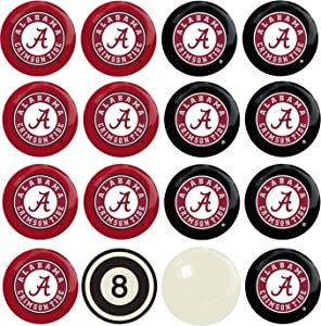 Imperial Officially Licensed NCAA Home vs. Away Team Billiard/Pool Balls, Complete 16 Ball Set