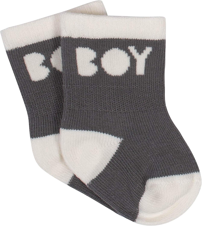 Grow by Gerber Baby Boys Organic 6-Pack Wiggle Proof Socks