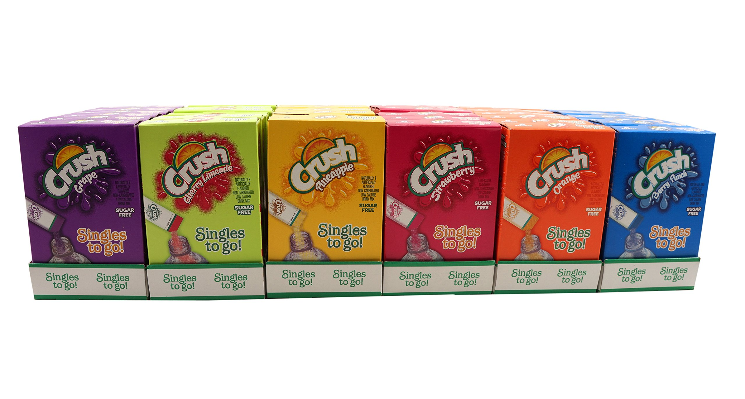Crush Singles To Go Low Calorie Drink Mix Variety Pack