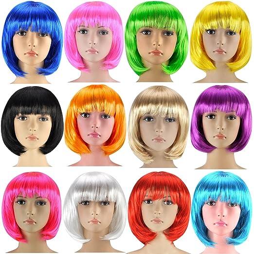 2 opinioni per Parrucca Bob Cabaret parrucca Capelli corti Charleston per donne, Uomo e