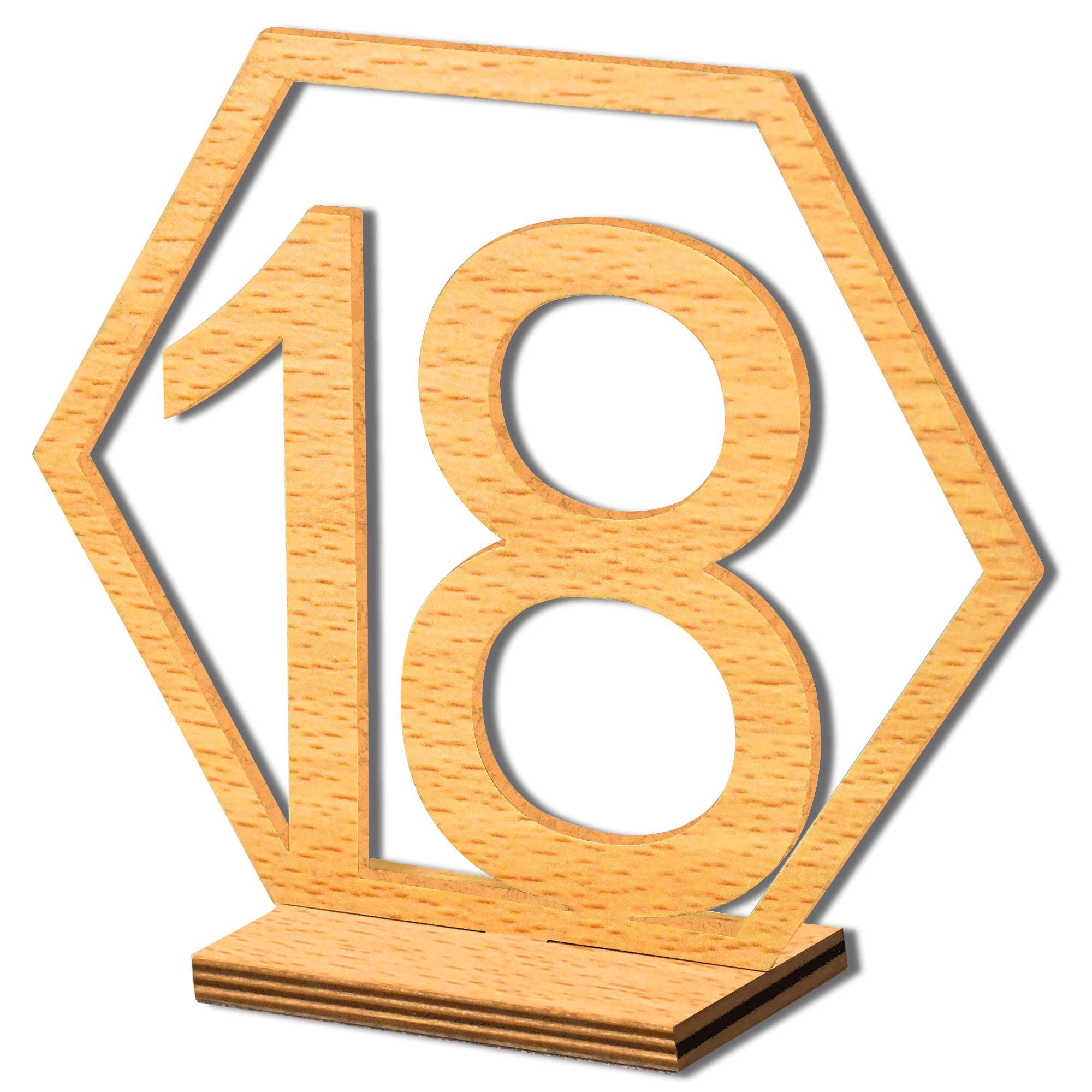 YUQI Table Numbers 1-20 with Sturdy Stand, Wood Desks Wedding Tables Numbers with Holder Base for Party Home Decoration,Vintage Birthday Events Banquet Anniversary Decor Wooden Catering Reception