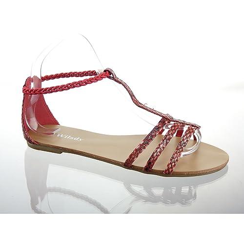 Kickly Sandali donna Rosso rosso
