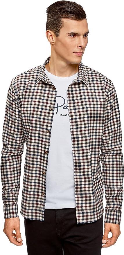 oodji Ultra Hombre Camisa a Cuadros Recta, Multicolor, 52-54: Amazon.es: Ropa y accesorios