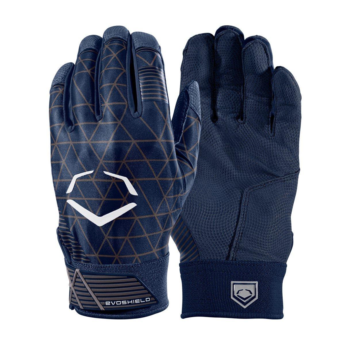 Evoshield evocharge保護用バッティング手袋 B0741HCMPL Small|ネイビー|アダルト ネイビー Small