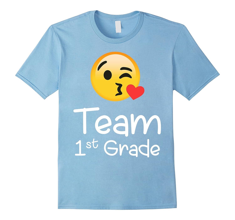 Emoji Team first Grade Teacher hearts lover Shirt for lover-Art
