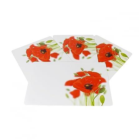 Kela Poppy Flowers 435 X 285 Cm Easy Care Wipe Clean Placemat