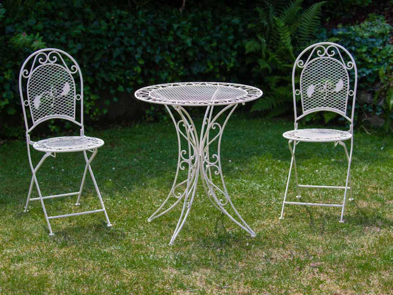 Amazon.de: Garten Garnitur Set Tisch Gartentisch 2 Stühle Eisen ...