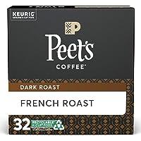 Peet's Coffee French Roast K-Cup Coffee Pods for Keurig Brewers, Dark Roast, 32 Pods