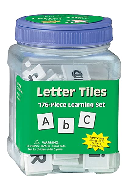 Amazon Eureka Tub Of Letter Tiles 176 Tiles In 3 3 4 X 5 1 2