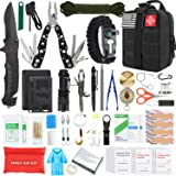 Gifts for Men Dad Husband Fathers Day, KOSIN Survival Gear and Equipment,100 Pcs Survival Kit First Aid Kit Molle System Comp