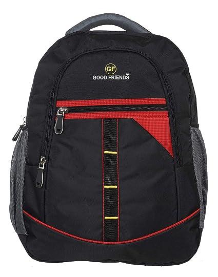 Good Friends Polyester Waterproof Black Blue Laptop Casual  Travel Backpack  School Polyester Waterproof Black 9c414de3c6b7e