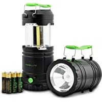 Prime-lite Camping Lantern Pack of 2 with Led - Battery Operated Lights - Led Lantern - Flashlights for Emergencies…