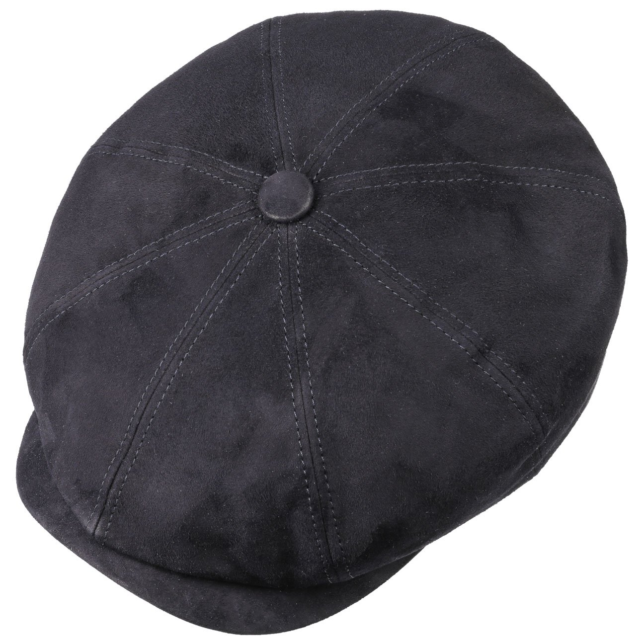 Stetson Hatteras Goat Suede Flat Cap Men Made in Germany Men/´s Winter caps hat with Peak Lining Summer-Winter