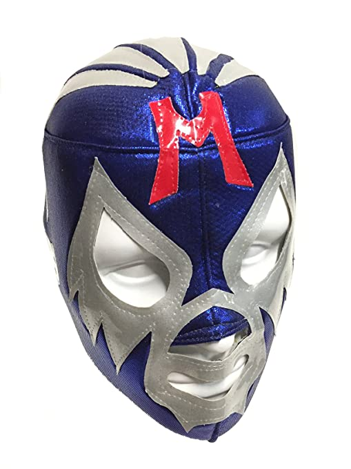 MIL MASCARAS Adult Lucha Libre Wrestling Mask (pro-fit) Costume Wear - Blue