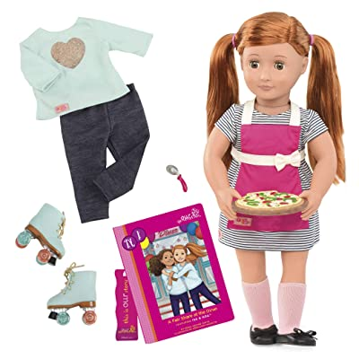 """Our Generation Dolls Noa 18"""" Deluxe Doll with Book: Toys & Games"""