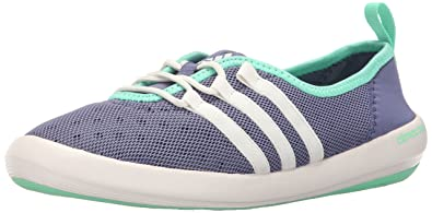 adidas Outdoor Women's Climacool Boat Sleek Water Shoe, Super PurpleChalk WhiteGreen