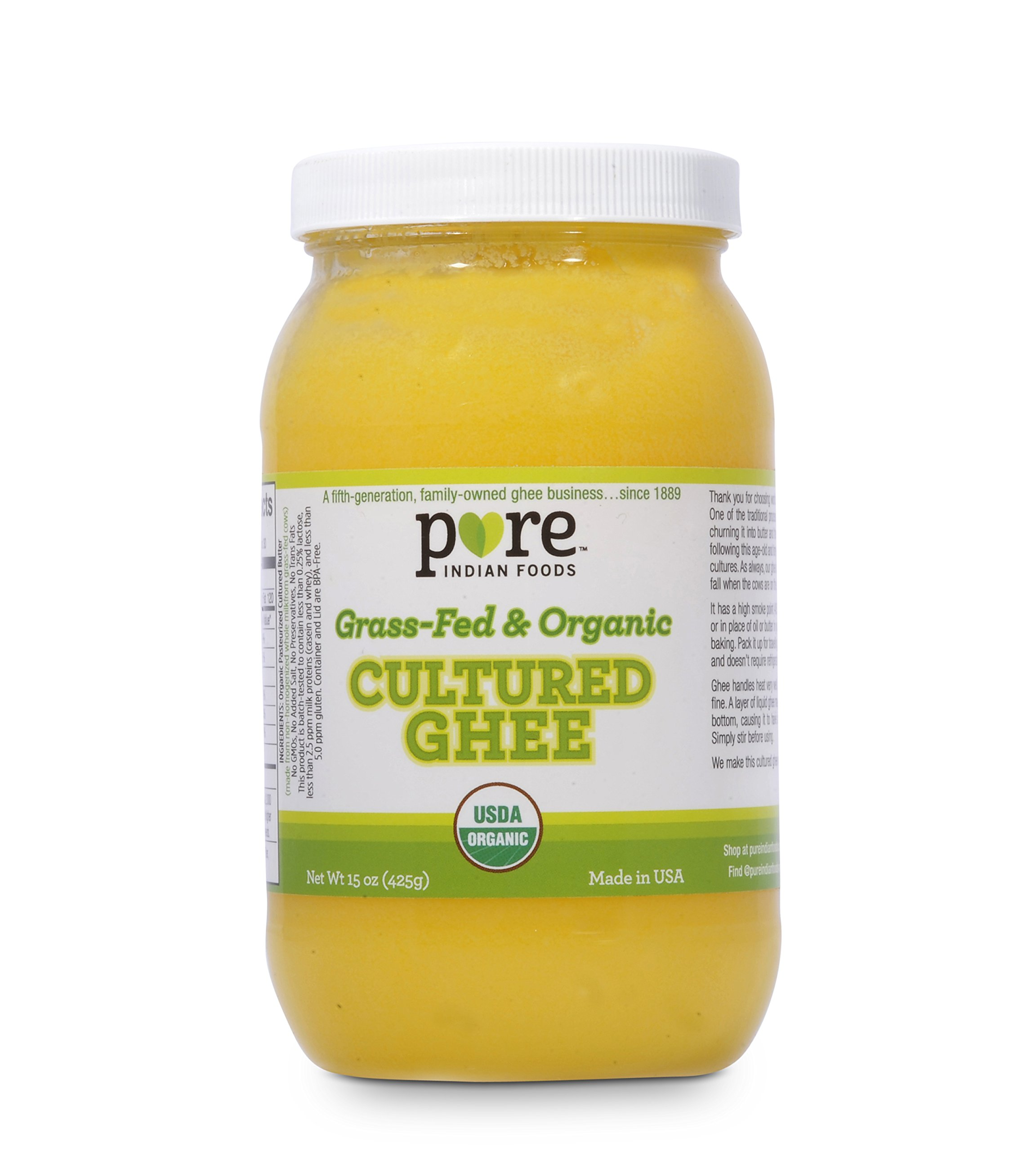 Grassfed Organic Cultured Ghee 15 oz