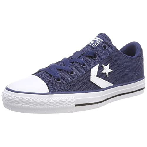 Converse Star Player OX Navy White Black Zapatillas Unisex Adulto Blau 426 35 EU