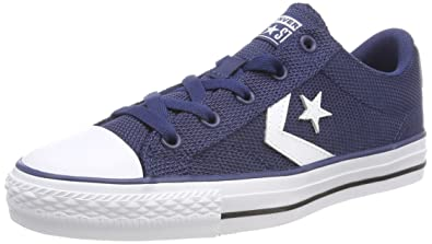 efe6b79cbbe523 Converse Unisex Adults  Star Player OX Navy White Black Trainers