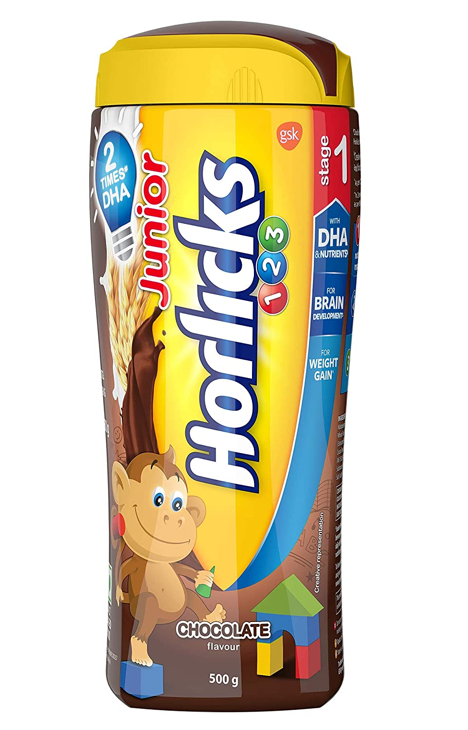 Buy Horlicks Junior Stage 1 Nutrition Drink Chocolate 500g Pet Jar 2 3 Years Online At Low Prices In India Amazon In