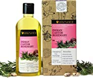 Soulflower Cold Pressed Castor & Rosemary Hair Nourishment Oil- Top 100% Pure Castor & Rosemary Oil For Hair Growth & Hair Lo