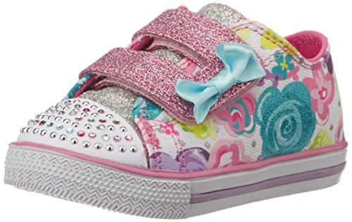 8706ce8eac1a Skechers Girl s Chit Chat White and Multi Sneakers - 9 UK India (42 ...