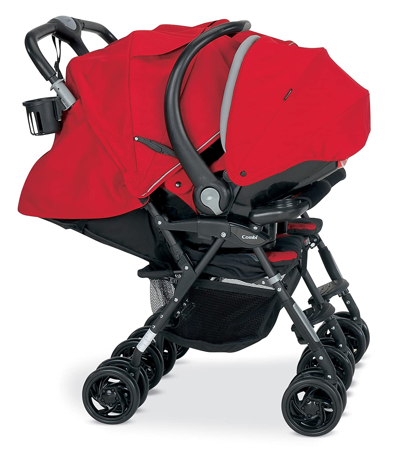 Combi Cosmo Twin Stroller - Red: Amazon.co.uk: Baby