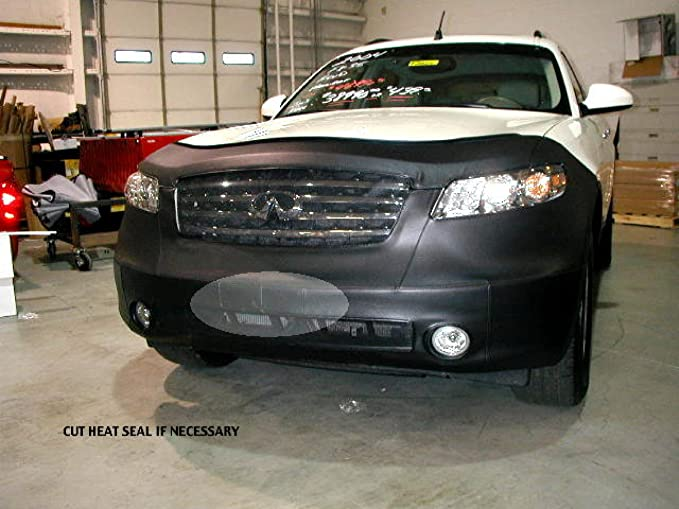 Coverking Custom Fit Front End Mask for Select Infiniti G35 Models Black Velocitex Plus