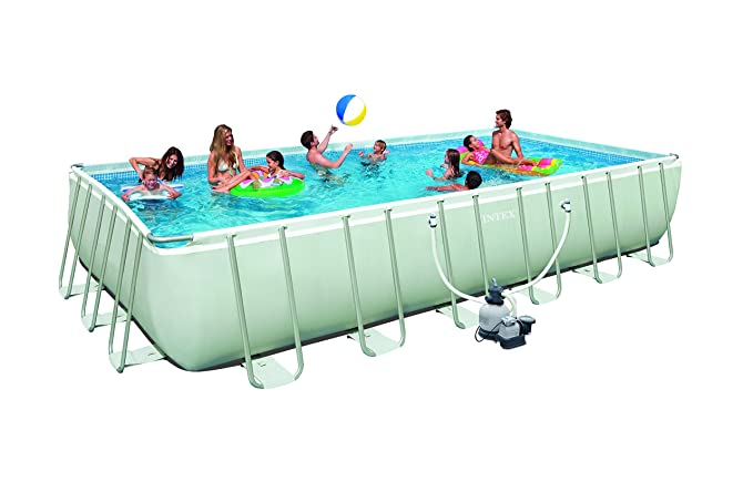 Intex Ultra Frame Pool Set, grau, 732 x 366 x 132cm