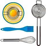 Yolk-It [ 3 Pack ] Egg Separator Tool w/BONUS Mini Whisk and Silicone Pastry Brush for Baking | Egg Yolk Separator | Egg Whit