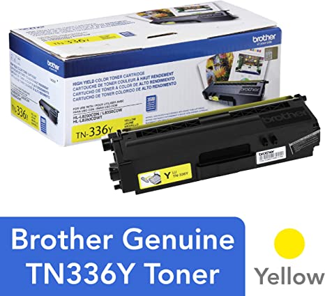 Brother TN-336Y DCP-L8400 L8450 HL-L8250 L8350 MFC-L8600 L8650 L8850 Toner Cartridge (Yellow) in Retail Packaging