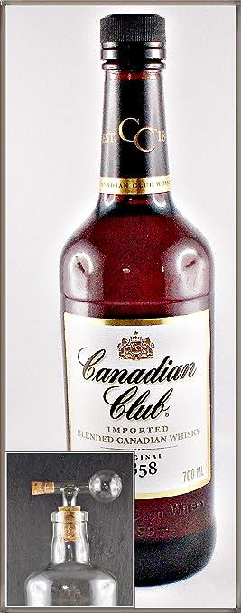 Canadian Club kanadischer Whisky mit einem Flaschenportionierer aus Glas, kostenloser Versand