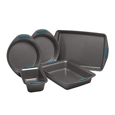 Rachael Ray 47021 Nonstick Bakeware Set, Medium, Marine Blue