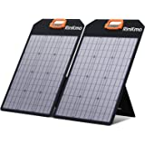 RINKMO 100W Portable Solar Panels Battery Charger with Light Strength Sensor, Support 2-4 Parallel to Increase Power(200w Max
