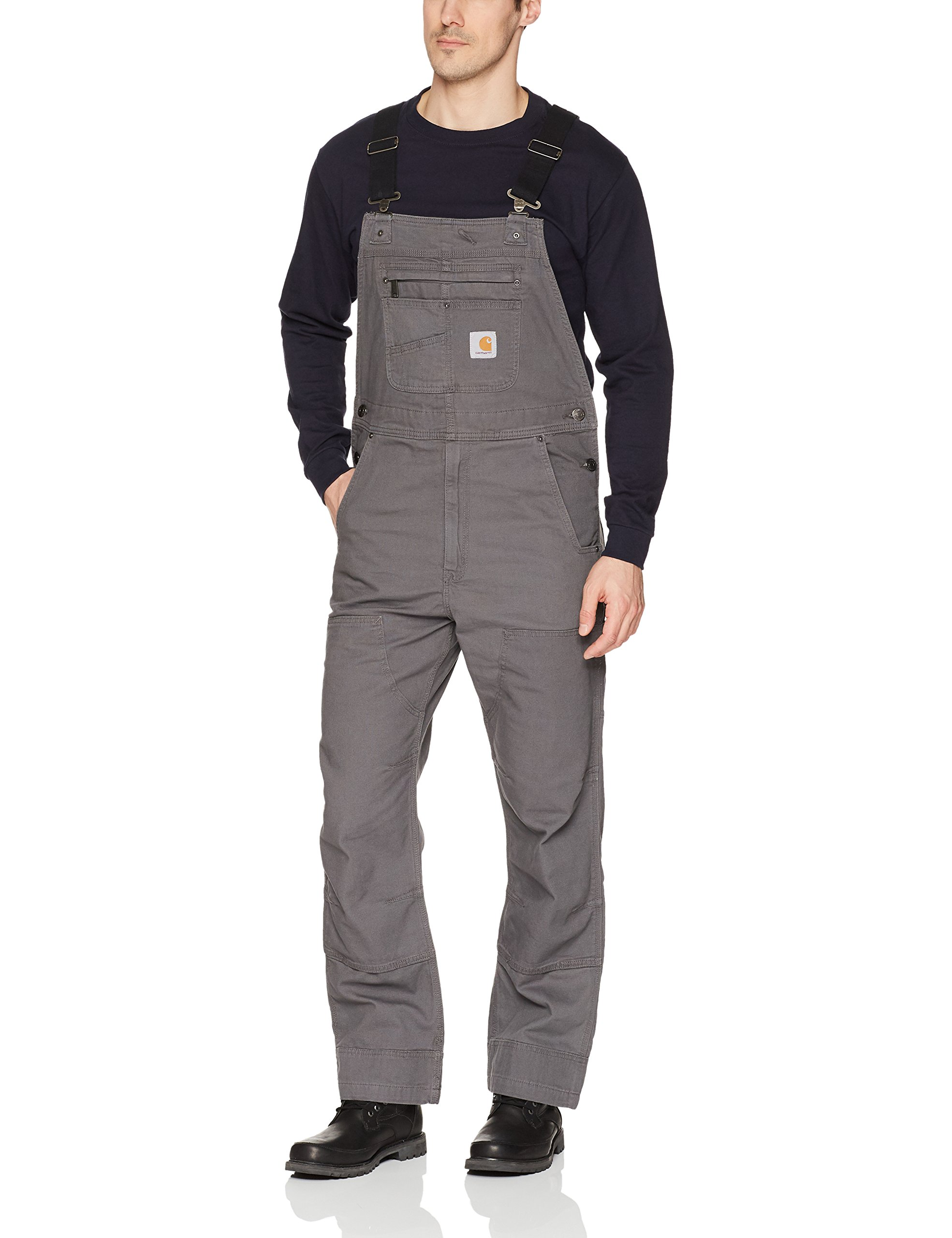 Carhartt Men's Rugged Flex Relaxed Fit Canvas Bib Overall