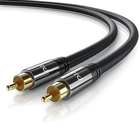 Primewire - 0,5m HQ Audio RCA Subwoofer Cable | Conector metálico de precisión |