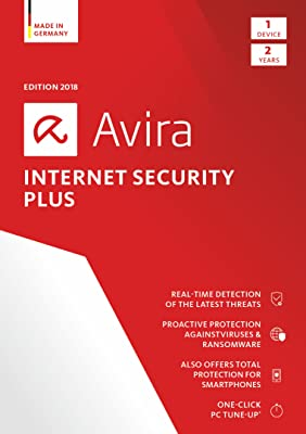 Avira Internet Security Plus 2018 | 1 Device | 2 Year | Download [Online Code]