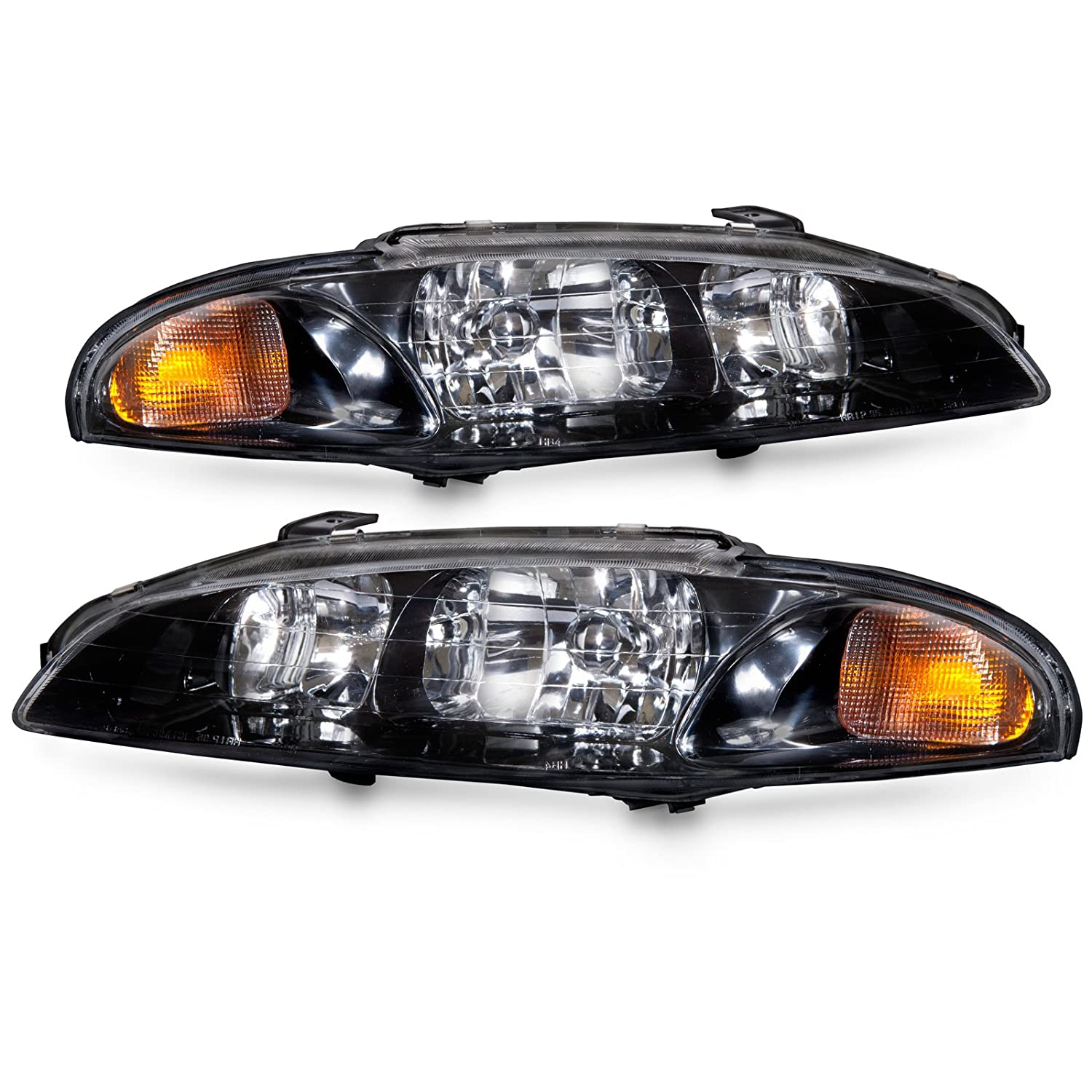 Amazon.com: Mitsubishi Eclipse Chrome Headlights Headlamps Set New Pair:  Automotive