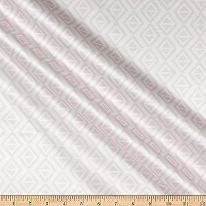 Mook Fabrics Polyurethane Laminate Geo Diamonds, Pink Yard