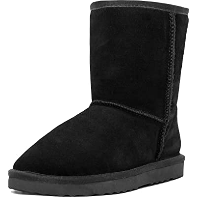 MUSSHOE Women's Mid Calf Winter Boots Classic Short Snow Boot | Snow Boots