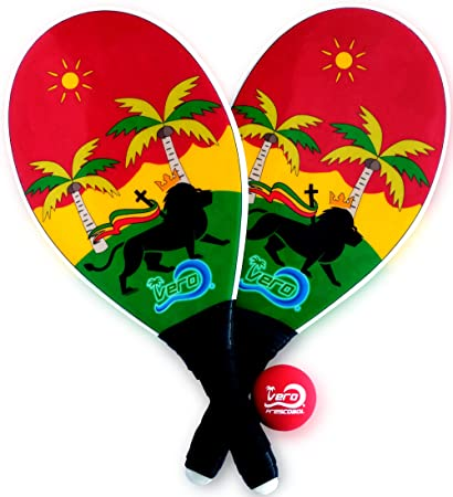 Amazon.com: frescobol Fibra de vidrio playa Paddleball ...