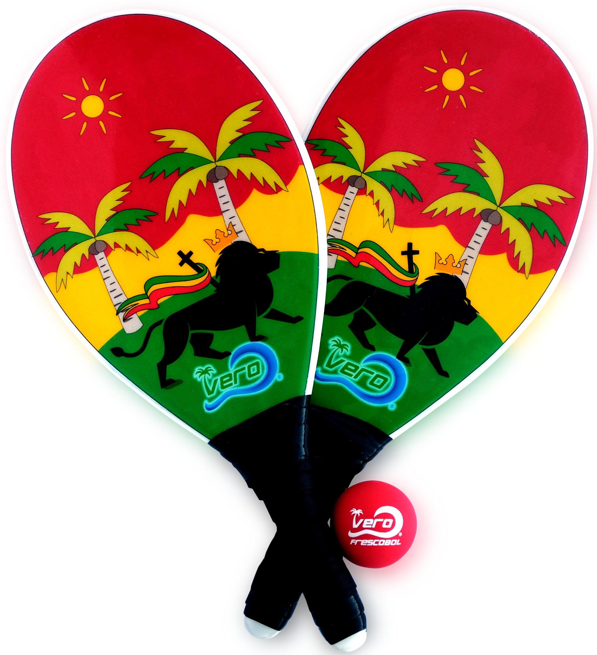 Frescobol Fiberglass Beach Paddleball Paddle Set, Official Ball, Bag by Frescobol (Image #1)