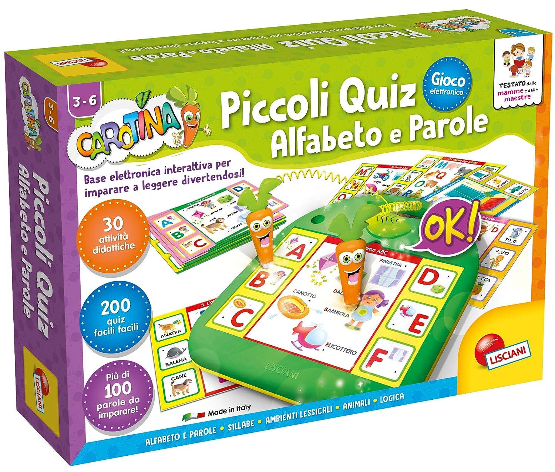 Carotina Piccoli Quiz Alfabeto e Parole Lisciani Giochi 49158