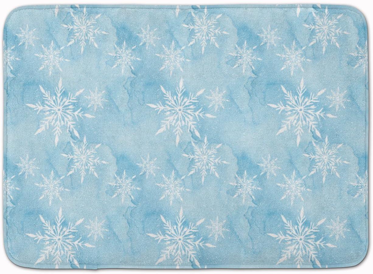 Carolines Treasures Watercolor Snowflake on Light Blue Floor Mat Multicolor 19 H x 27 W