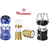 Premsons 6 LED Solar Power Camping Lantern Rechargable Collapsible Night Light (Color May Vary)