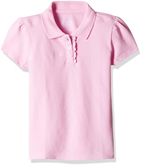 f7c8eb43a4b5e The Children s Place Girls  Uniform Short Sleeve Pique Polo  (2062404 Sparklpink 5Y)