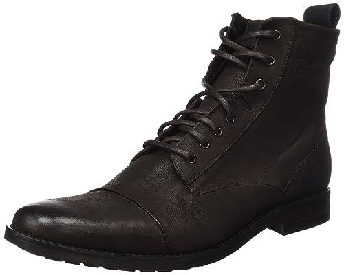 Newest Levis Maine Lace Up Black Mens Ankle Boots Outlet UK0337